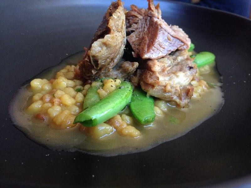 Lamb, Fregola and Pea