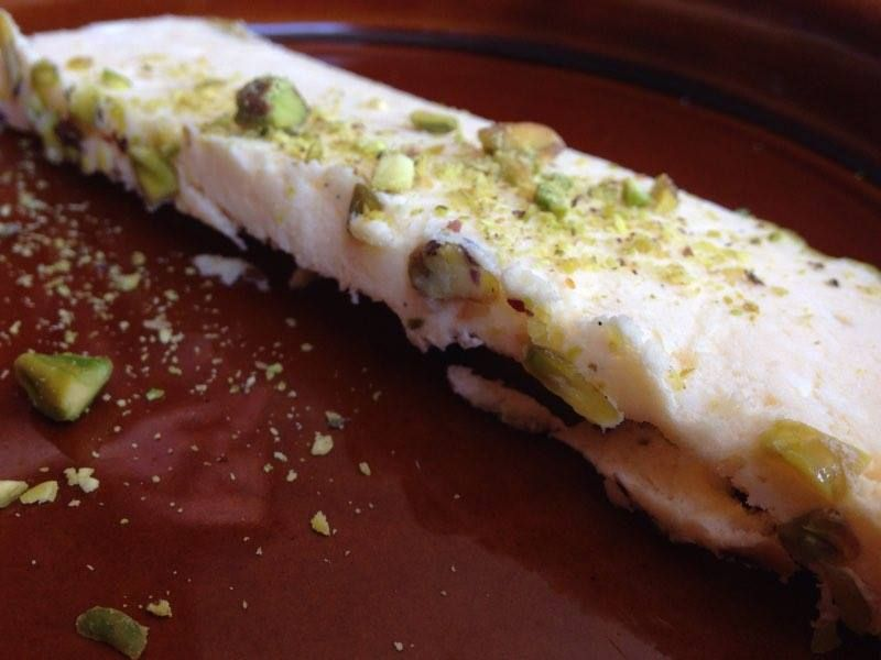 Meyer Lemon and Pistachio Semi-Freddo